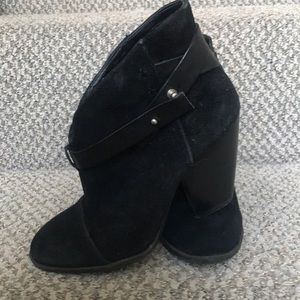 Sole Society black Suede Booties, size 5
